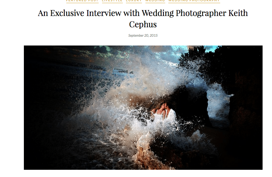 Keith Cephus' Exclusive Interview in Creme De La Bride Magazine in London!