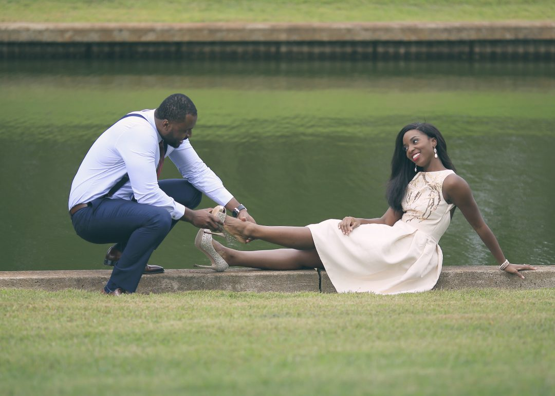 Nigerian Wedding Photographer | Sneak Preview:  Ifechi and Arinze's Engagement Session at Botanical Gardens